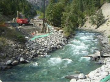 Cayoosh Creek Cayoosh Creek Bridge Lillooet Cewe Infrastructure Ltd