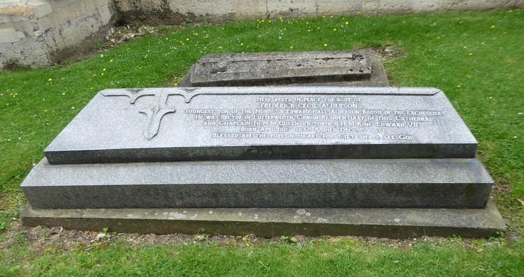 Cecil Alderson Rev Frederick Cecil Alderson 1836 1907 Find A Grave Memorial