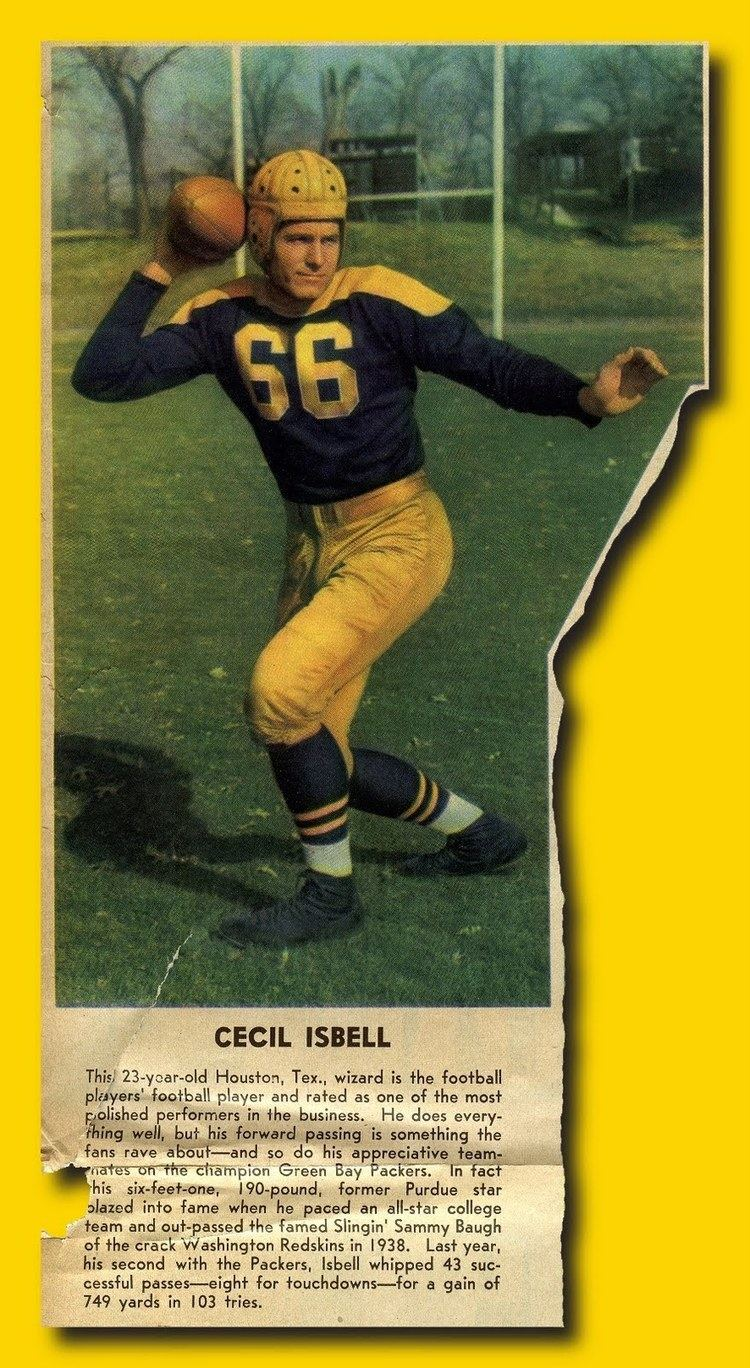 Cecil Isbell PACKERVILLE USA An Old Cecil Isbell Clipping