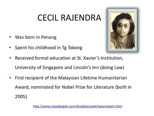 Cecil Rajendra Poem Liberators