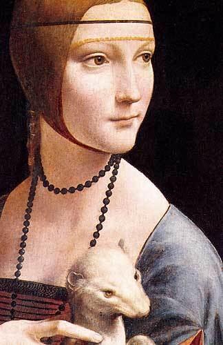 Cecilia Gallerani Leonardo Da Vinci Resimleri Cecilia Gallerani Portresi Erminli Kadn
