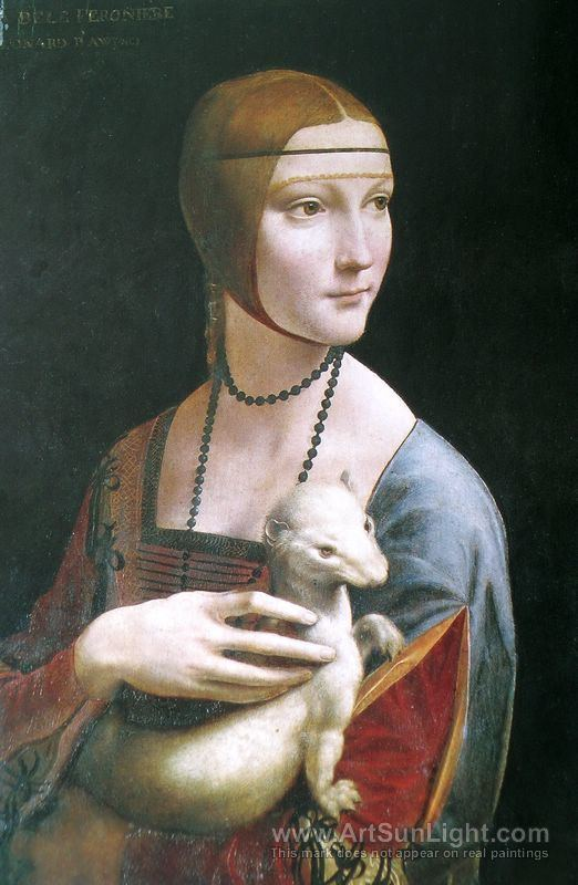 Cecilia Gallerani Portrait of Cecilia Gallerani Lady with an Ermine c1490