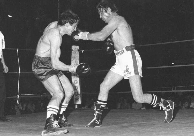 Cecilio Lastra El boxeador cecilio lastra durante un combate de boxeo