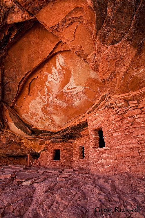 Cedar Mesa Alpenglow Images Cedar Mesa by Greg Russell