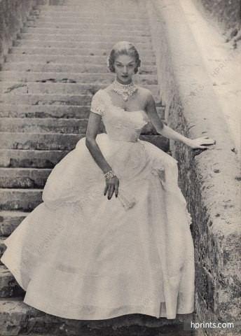 Ceil Chapman Ceil Chapman 1951 Jewels by Schreiner Evening Gown Dressmakers