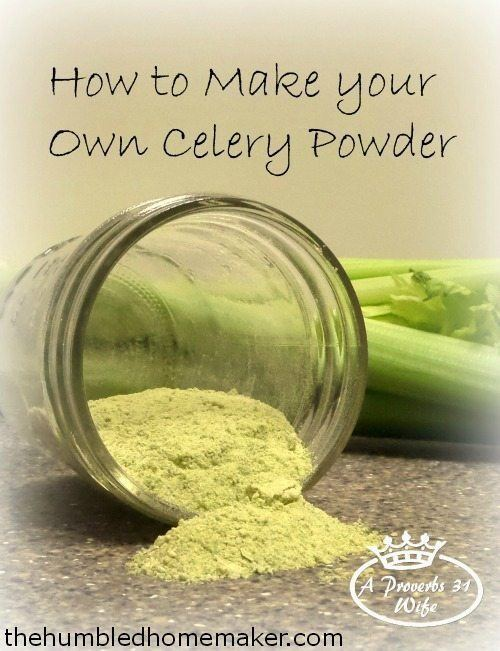 Celery powder How to Make Your Own Celery Powder The Humbled Homemaker