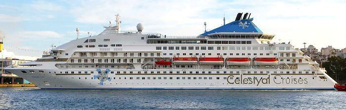 Celestyal Crystal The 39Celestyal Crystal39 cruise ship Travel in Greece with Dolphin