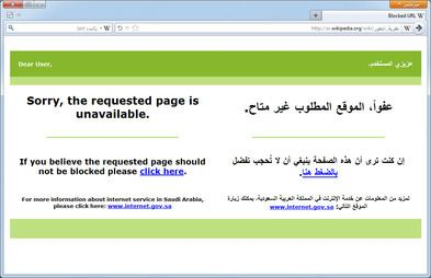 Censorship in Saudi Arabia