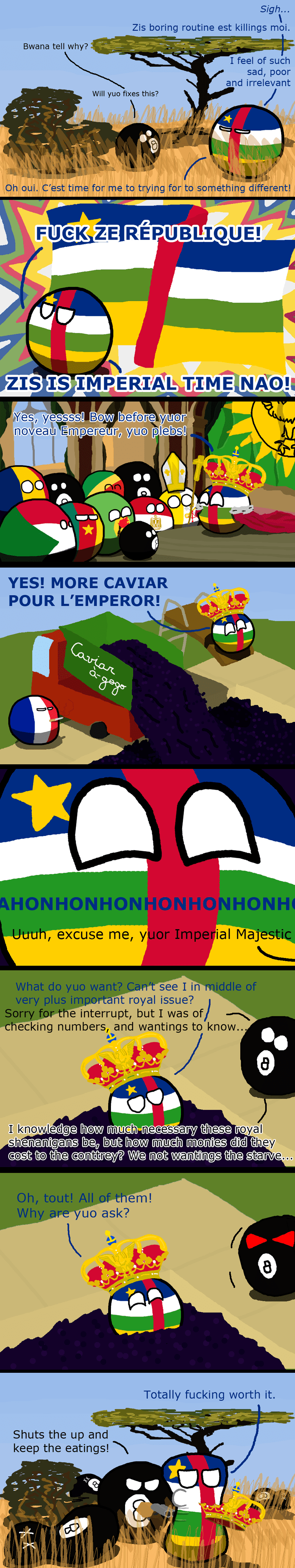 Central African Empire The Rise And Fall Of The Central African Empire polandball