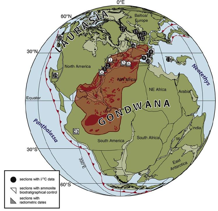 Central Atlantic magmatic province Global paleogeographic map at the TriassicJurassic Figure 2 of 4