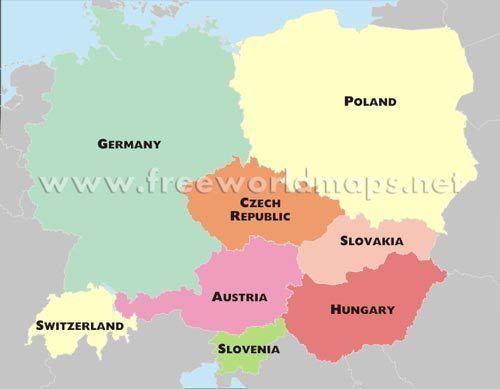 Central Europe wwwfreeworldmapsneteuropecentralcentraleurope