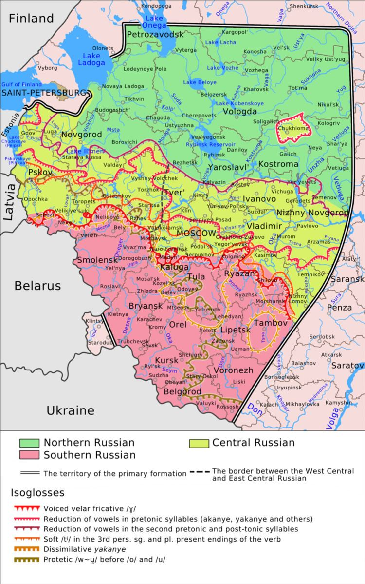 Central Russian dialects