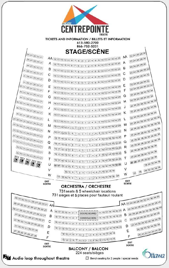 Centrepointe Theatre Centrepointe Theatre Seating Plan Centrepointe Theatre