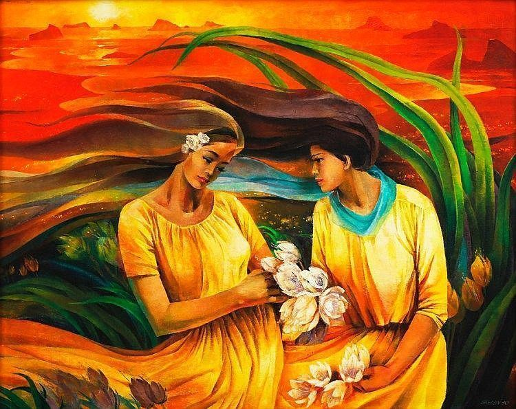 Sea of Gold , 1990 - Cesar Legaspi paintingartisan.com   Painting, Artist,  Philippine art