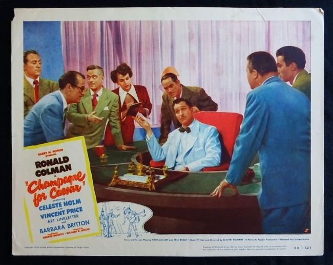 Champagne for Caesar For Caesar 1950 Lobby Card Very Fine Condition Ronald Colman