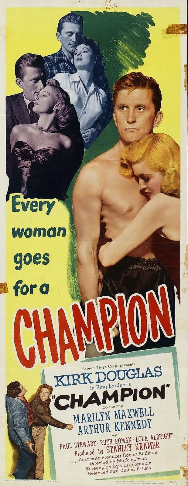 Champion (1949 film) Champion 1949 Film Noir of the Week