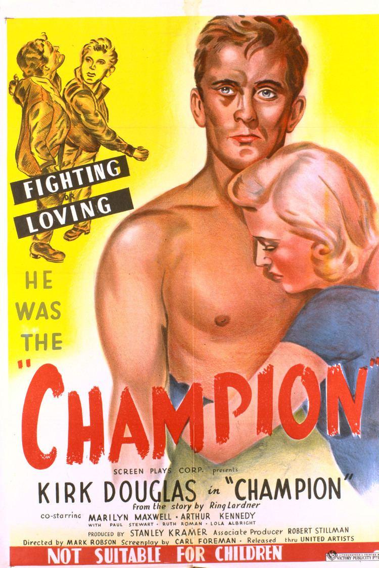 Champion (1949 film) wwwgstaticcomtvthumbmovieposters104p104pv