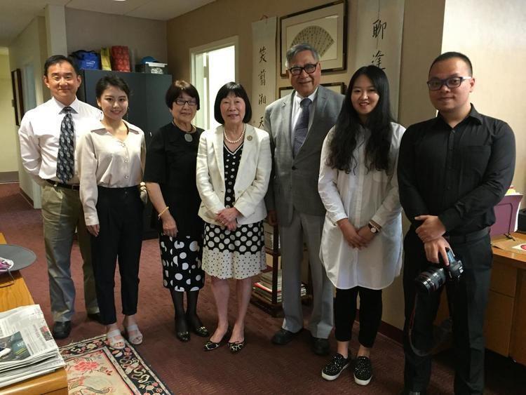 Chao Kuang Piu Chao Kuang Piu College visits USCET Office USChina Education Trust