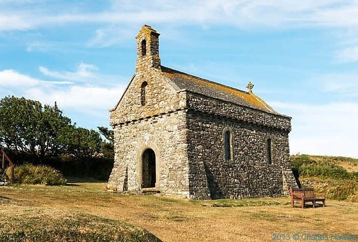 Chapel of St Non The Wales Coast Path from Druidstone to St Non39s by Charles Hawes
