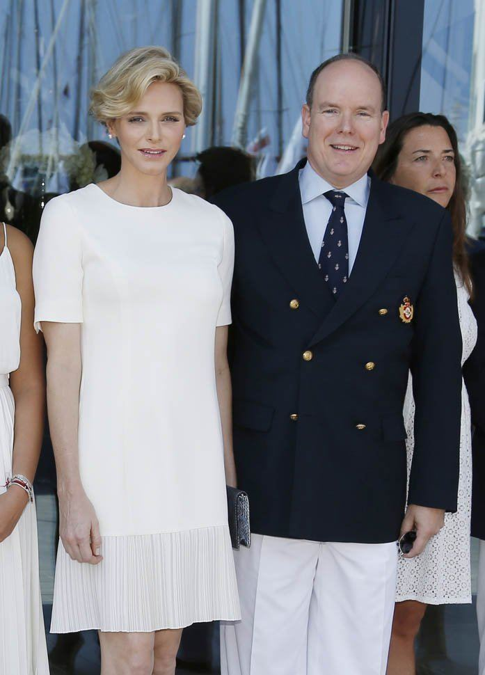 Charlene, Princess of Monaco Pregnant Princess Charlene and Prince Albert at Monaco