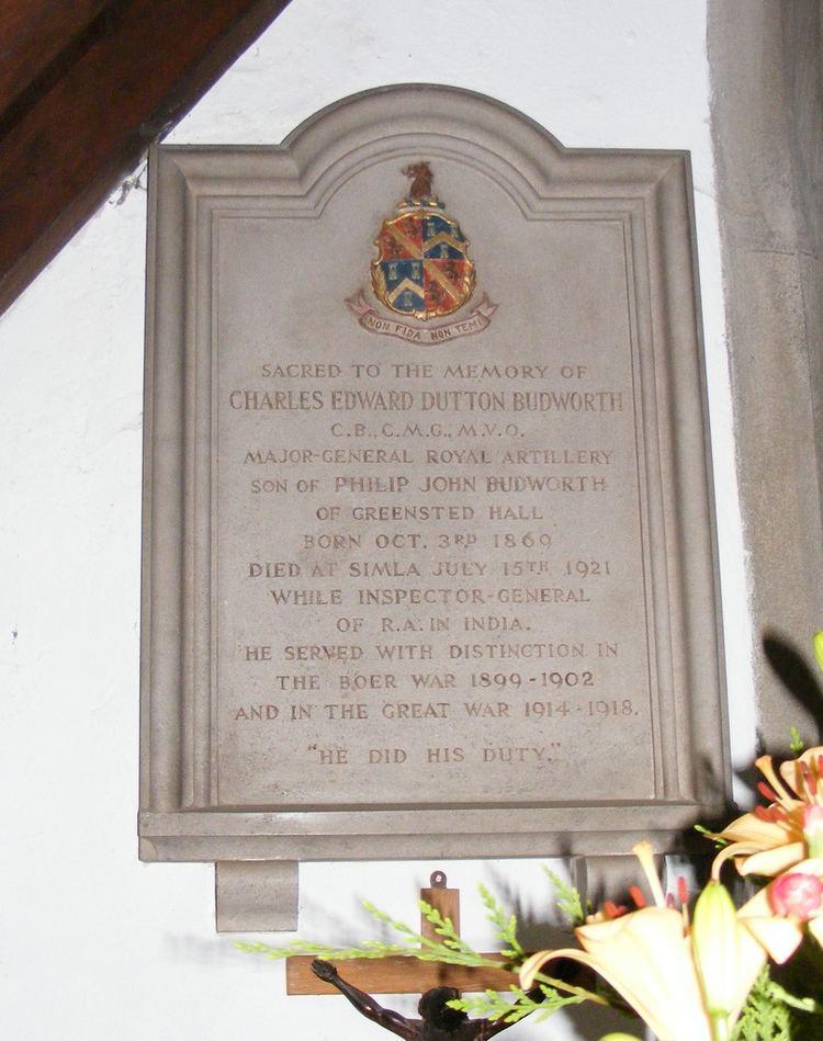Charles Budworth Charles Budworth Memorial Major General CHARLES EDWARD DUT Flickr