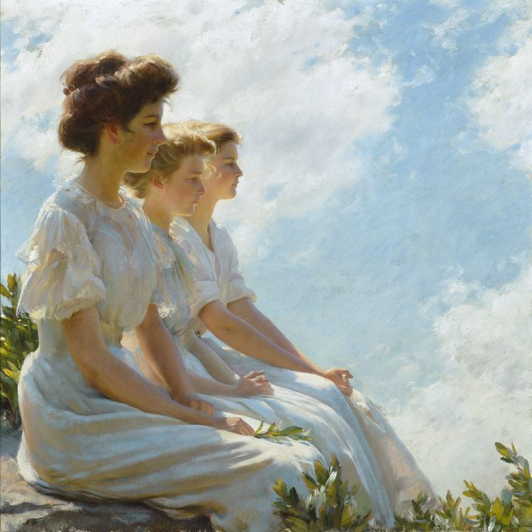 Charles Courtney Curran Art preview Charles Courtney Curran weaves women and
