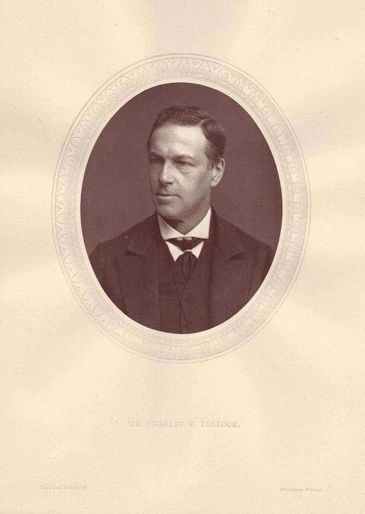 Charles Edward Pollock Sir Charles Edward Pollock High Court Judge Antique Photograph