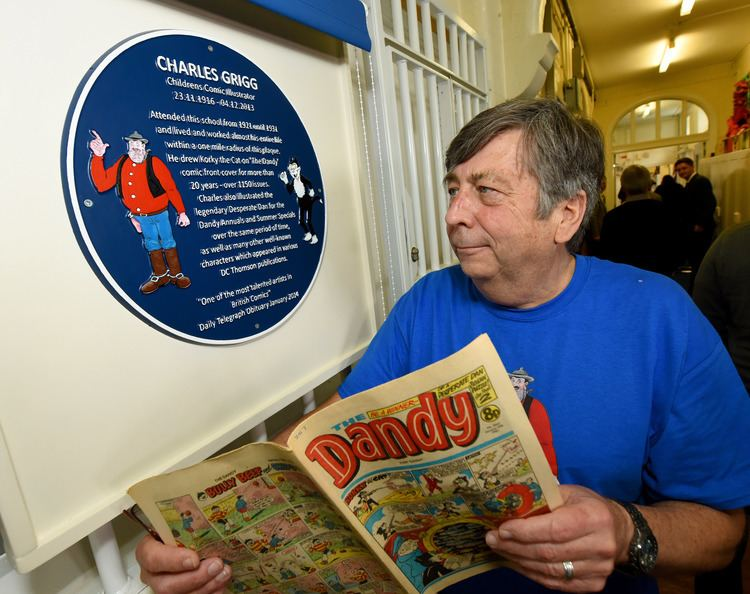 Charles Grigg Plaque in honour of Oldbury cartoonist Charlie Grigg unveiled