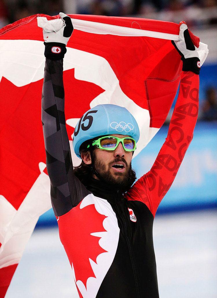 Charles Hamelin Charles Hamelin wins short track gold medal at Sochi