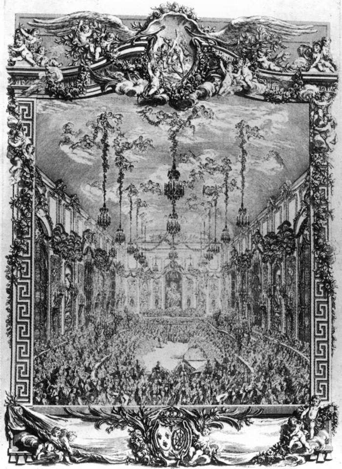 Charles-Nicolas Cochin The Dress Ball Given in Honour of the Dauphin39s Wedding by