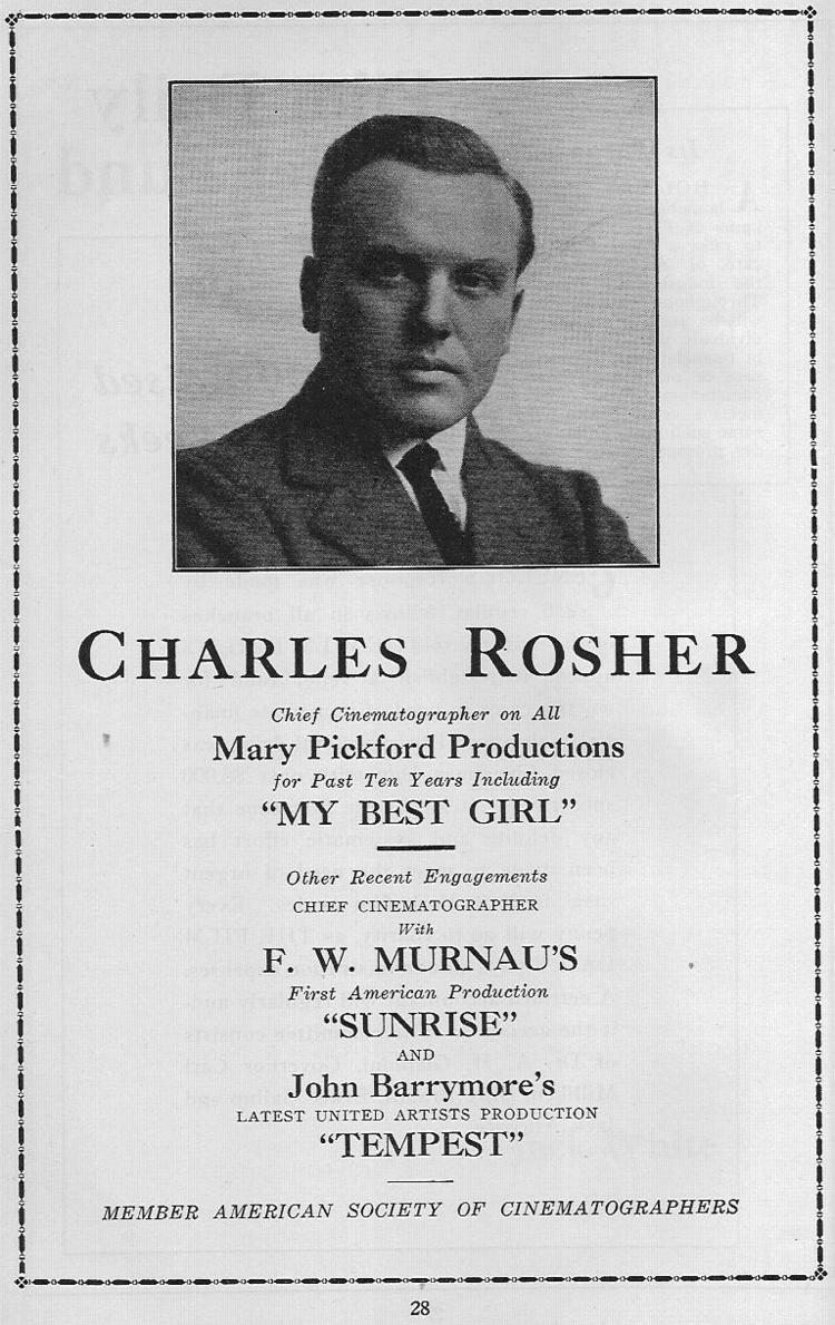 Charles Rosher wwwallmovietalkcomvintage1928charlesrosherpng