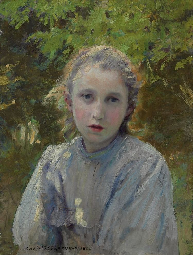 Charles Sprague Pearce FileCharles Sprague Pearce Portrait of a Young Girljpg