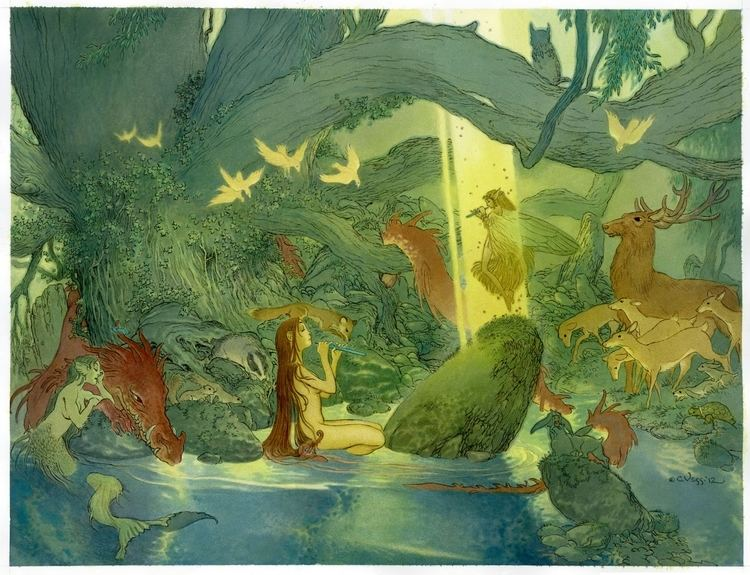 Charles Vess Charles Vess Duet in Malcolm Bournes Charles Vess Comic Art