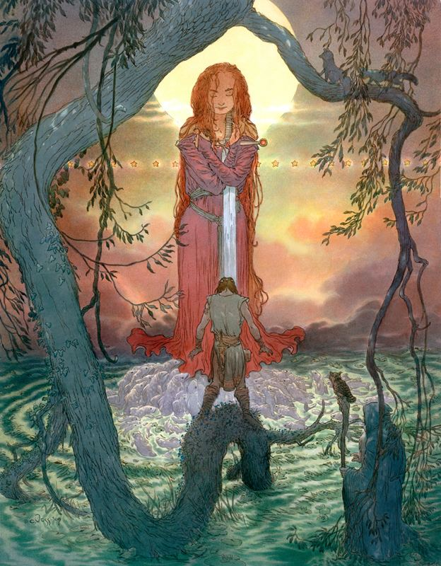 Charles Vess Muddy Colors Into the Green The Art of Charles Vess
