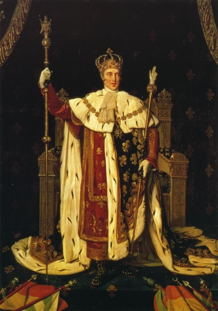 Charles X of France Portrait of Charles X in Coronation Robes Jean Auguste