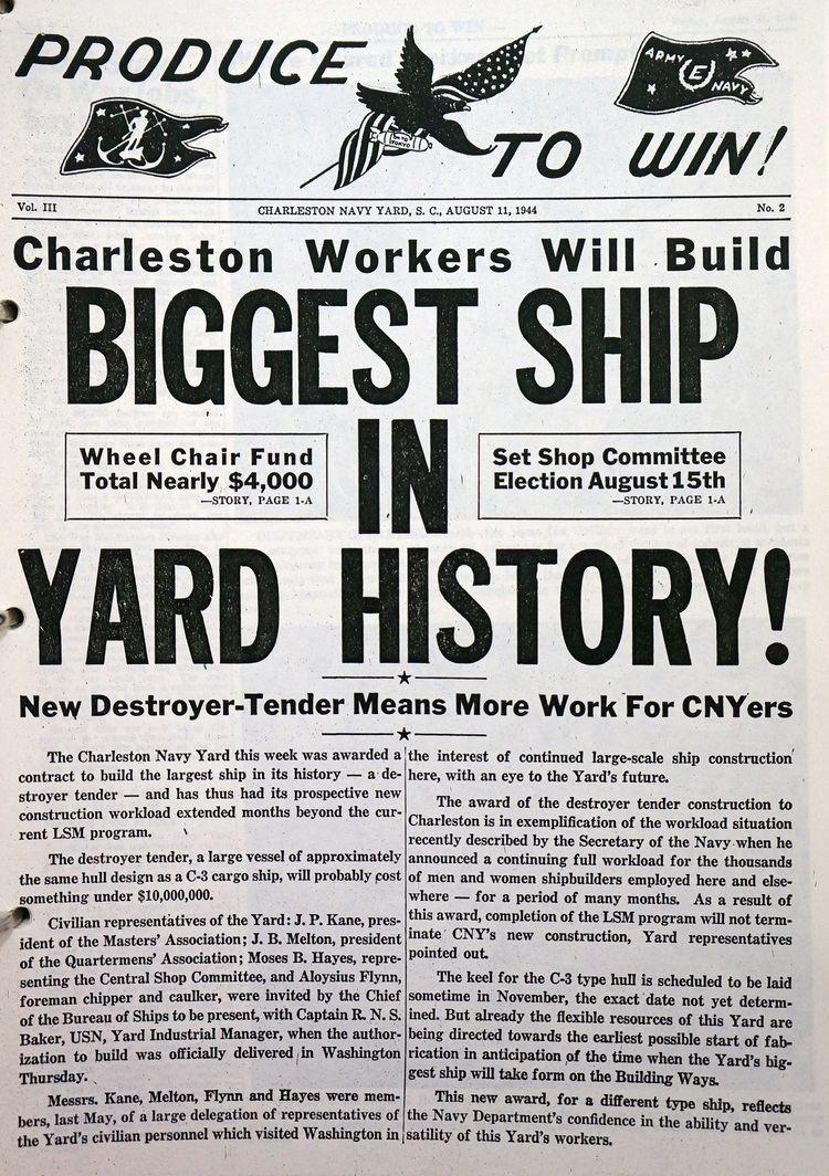 Charleston Naval Shipyard Patriots Point Awarded 20000 Grant to Digitize Charleston Naval