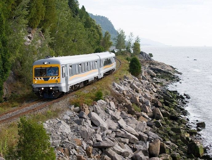 Charlevoix tourist train Charlevoix Rail Transit Guided Train Tour Quebec City and Area