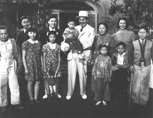 Charlie Chan in Panama movie scenes A publicity photo from Charlie Chan in Honolulu 1938 Front row David Dong Barbara Jean Wong Faye Lee with the doll Margie Lee unknown son