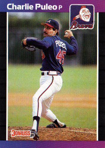 Charlie Puleo ATLANTA BRAVES Charlie Puleo 286 DONRUSS 1989 MLB Baseball Trading