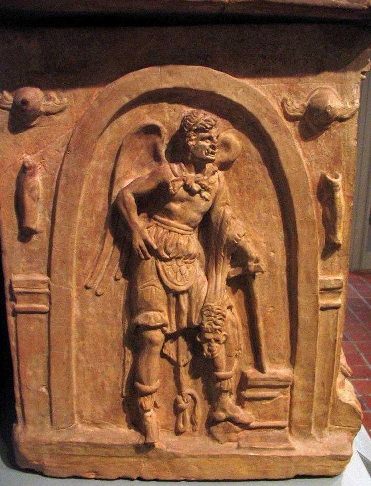 Charun Etruscan urn detail of Charun an Etruscan underworld demo Flickr
