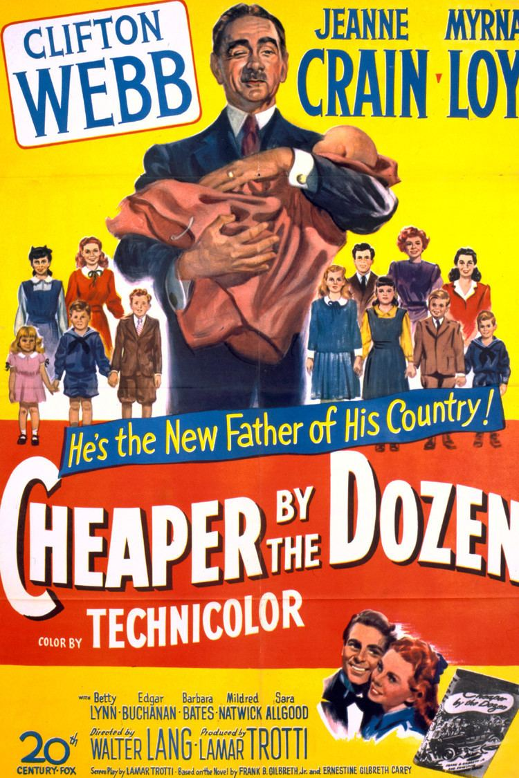 Cheaper by the Dozen (1950 film) wwwgstaticcomtvthumbmovieposters5392p5392p