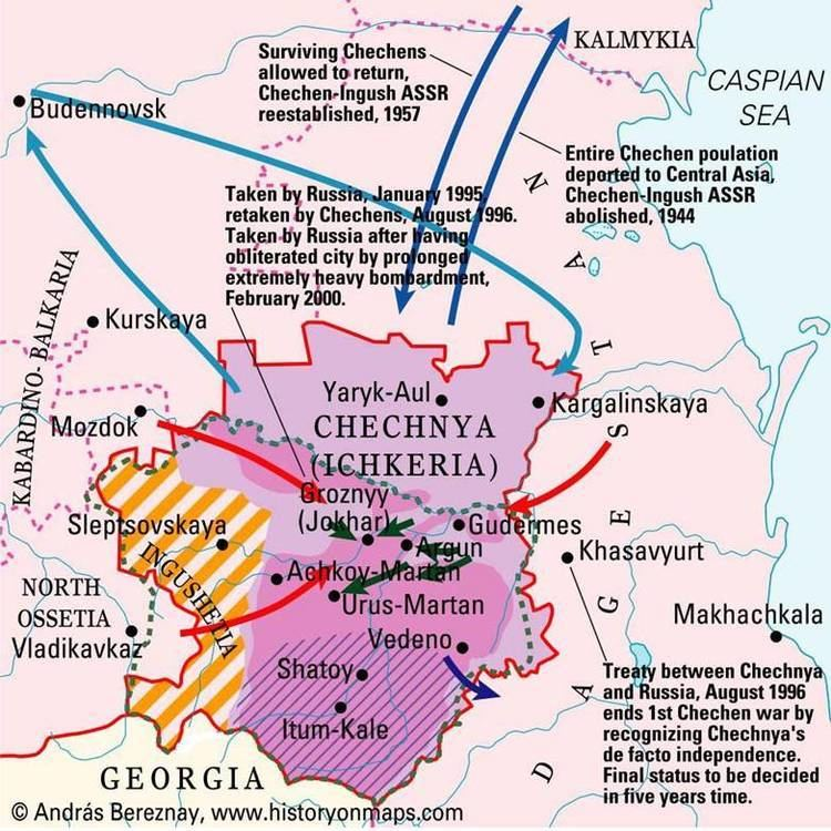 Chechnya in the past, History of Chechnya