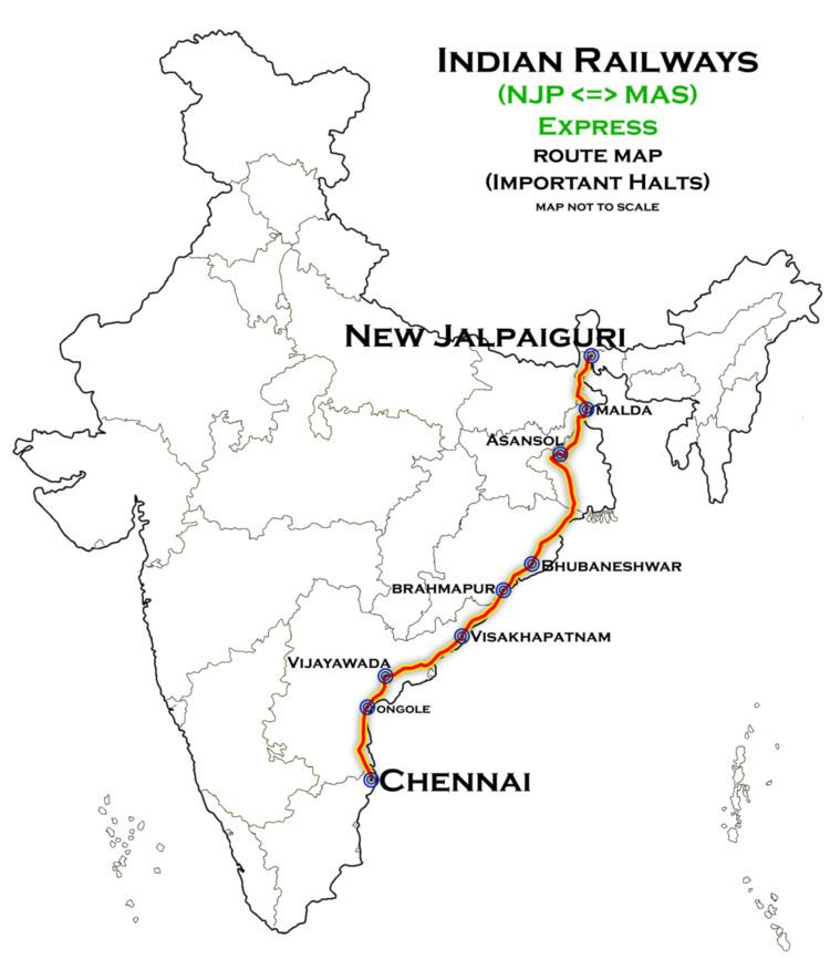 Chennai - New Jalpaiguri SF Express