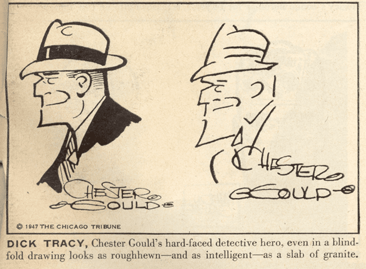Chester Gould Mike Lynch Cartoons Chester Gould Draws Dick Tracy with his Eyes