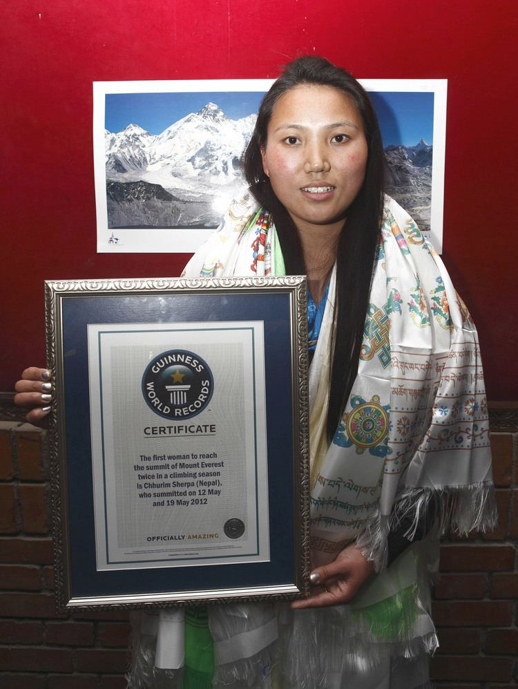 Chhurim Woman honored for climbing Everest twice in eight days