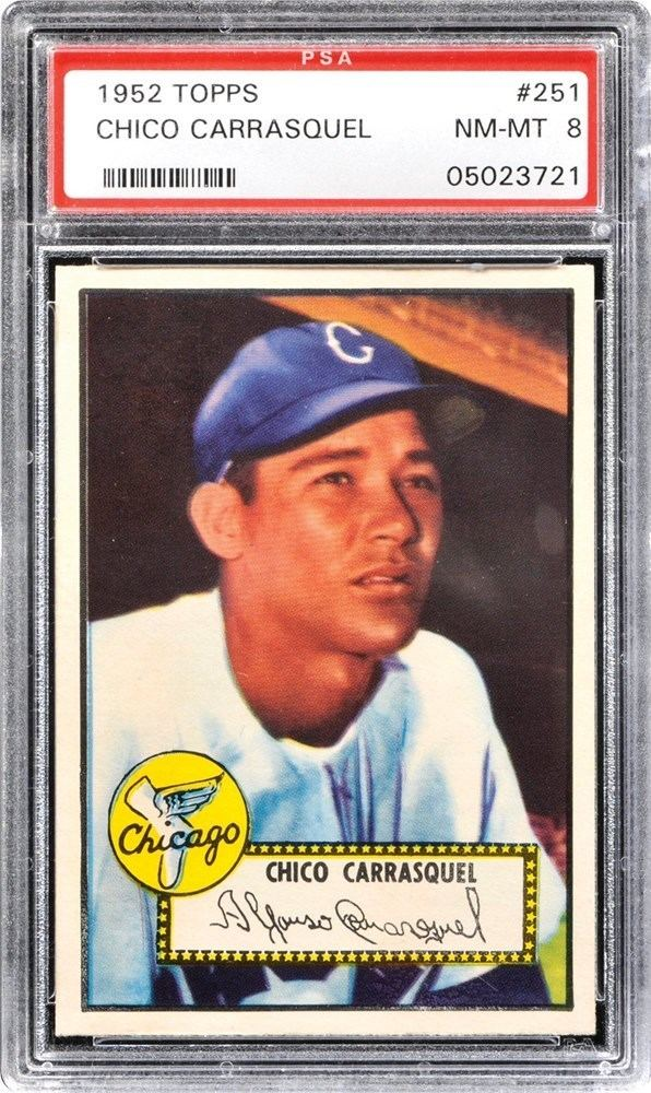 Chico Carrasquel 1952 Topps Chico Carrasquel PSA CardFacts