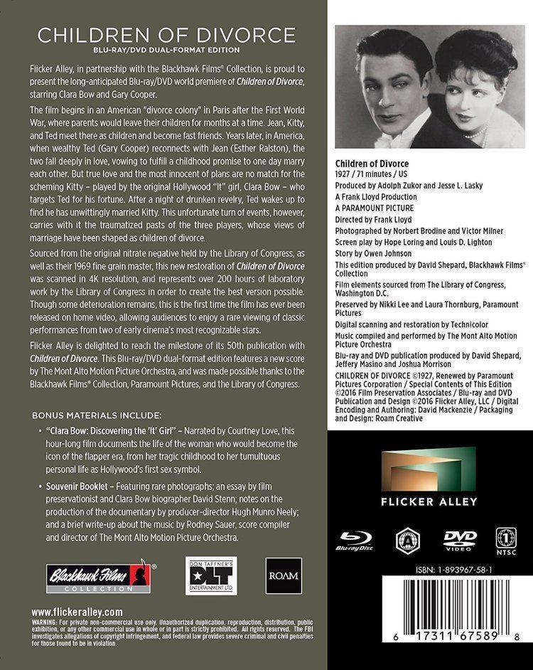 Children of Divorce (1927 film) Amazoncom Children of Divorce Newly Restored BlurayDVD