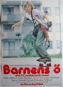 "A poster of ""Children's Island"", a 1980 Swedish drama film."