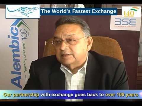 Chirayu Amin Chirayu Amin CMD Alembic Pharma on 140 years of BSE YouTube