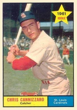 Chris Cannizzaro 1961 Topps Chris Cannizzaro 118 Baseball Card Value Price Guide